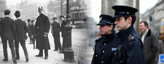 Image of Irish policing past and present